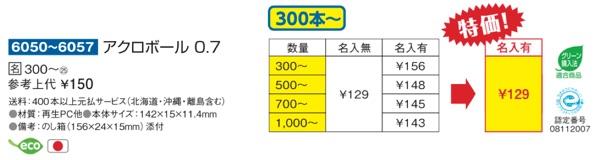 Acro価格表