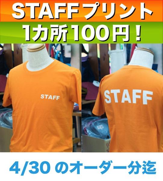 STAFFジャンパーキャンペーン